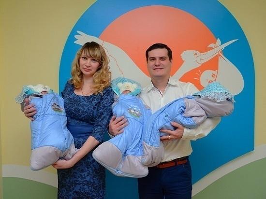 В Тамбовской области первый раз за семь лет родились тройняшки