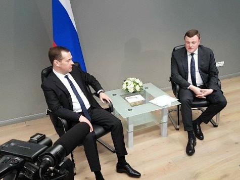 Премьер Д. Медведев игубернатор Александр Никитин обсудили социальные вопросы Тамбовщины