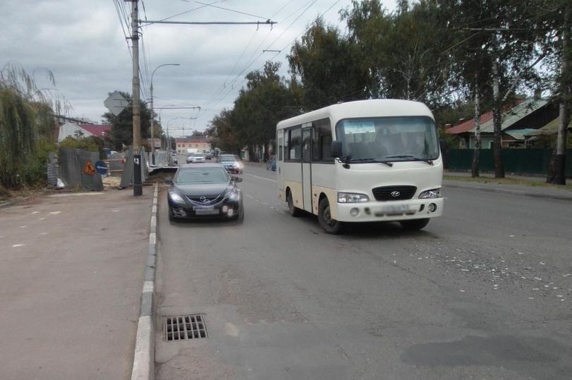 ДТП в Тамбове: на Гастелло автобус врезался в иномарку